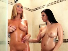 Glamour Lesbian Girlfriends Wet And Sexy Shower Sex