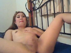 Chinita Tranny Masturbating On Cam