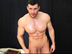Massive Shredded Muscle God Has Straight Guy Suck Cock