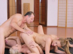 yoga-teacher-has-threesome-with-blondes-in-the-gym