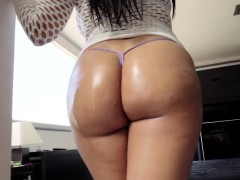 Latina Gets Booty Spunked