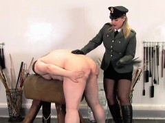 Uniformed Domina Drilles Sub With Machinecock