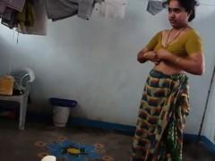 Desi with hairy armpit wears saree Corazon from 1fuckdatecom Porn Video