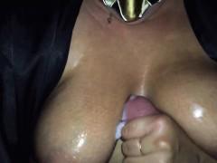 Giant Bosoms Baby Oil Handjob Jeniffer From 1fuckdatecom