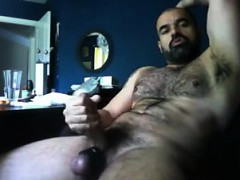 Hairy Guy Jacks Off