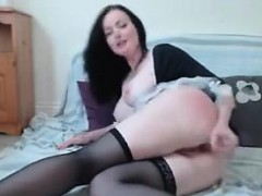 Teen Brunette Maid Undressing And Sucking