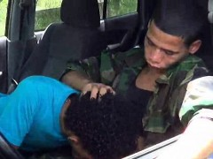 Army Boy Has A Pricknick With A Stranger