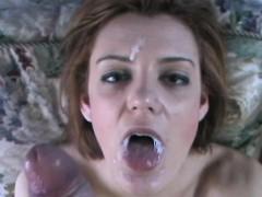 Wife Sucks 10 Inch Big White Cock Facial Cumshot