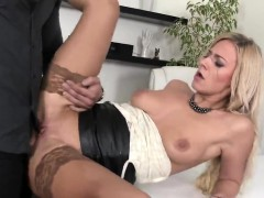 Astounded Peach In Lingerie Is Geeting Peed On And Rode