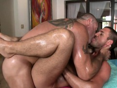 Gay Guy Is Having A Time Engulfing Stud's Pecker