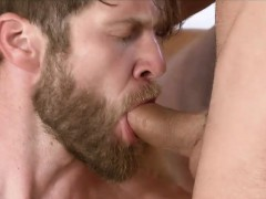 Attractive Bearded Stud Needs A Thick Pecker In His Bunghole
