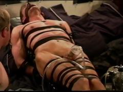 Extreme Vacuum Pumping Cbt On Leather Bound And Restrained