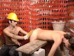 Steamy Old+young Gay Sex At A Construction Site