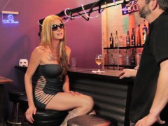 Inked Transsexual Pov Buttfucked In Bar