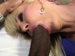 Blonde Cougar Erica Lauren Loves Black Cock
