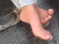 Impersonal Indian College Teenage Feet At Library