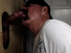 Chocolate Dad Cums At Gloryhole