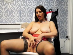 Hot European Milf Masturbating In The Office