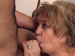 Fat Grannys Mouth Cummed