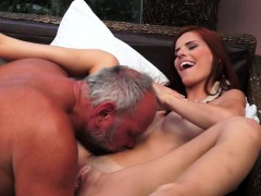 Amateur Redhead Beauty Fucked By Oldmans Dick