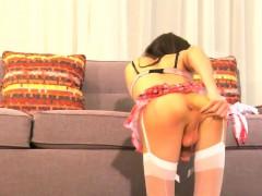 Amateur Ladyboy Masturbating And Ass Gaping