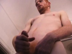 Straight Redhead Tristian Stroking Off