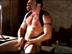 Self Cbt Session By A Hairy Muscular Man. He's Getting Off