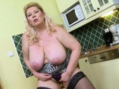 oldnanny-busty-mature-masturbation-in-the-kitchen