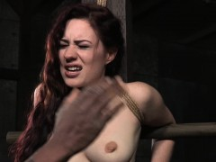Strappado Submissive Caned By Rough Dom