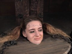 Submissive Slut Tormented In The Barrel