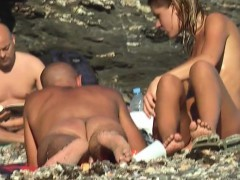 Nudits Amateur Milf Playing Hot Nude Beach Babe Close up