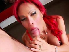 Horny Redhead Ts Erika Adores Anal Sex