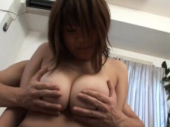 Subtitled BBW tan Japanese amateur big breasts fondling