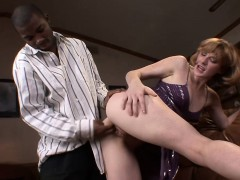 White Pussy Gets A Black Cock