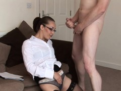 Spex Cfnm Milf Gives Joi Before Sucking Dick