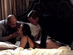 Slutty Keisha Grey Takes Two Massive Cocks In One Shot