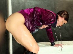 Glam Milf Drenched With Cum At The Gloryhole