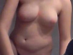 slut Karill lick her tits massage on hidden cam