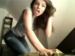 Brunette Teen Masturbation Orgasm Show With T