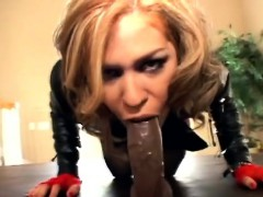 Gorgeous Blonde Babe Enjoys Interracial Anal Threesome