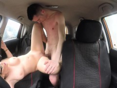 Fake Driving School Learners Nerves Calmed By Fucking