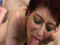 Redhead Chick Taking Care Of Big Dick