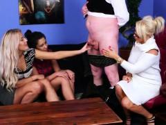 glamorous british femdoms tugging their sub