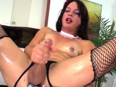 Ts Gina Hart Toyfucks Her Nice Ass