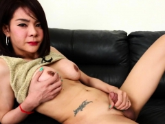 real-ladyboy-teases-and-jerks-her-hard-cock