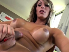 Busty Tranny Camyle Victoria Enjoys Masturbating