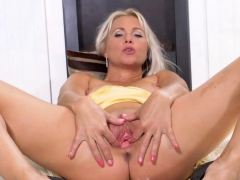 Slutty Czech Chick Opens Up Her Narrow Twat To The Strange78