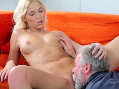 Old Goes Young Sweet Blonde Comes To Her Old Teacher