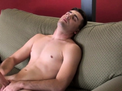 Amateur Military Hunk Strokes His Fat Cock