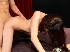 Shy Oriental Beauteous Chick Gets Snatch Smashed